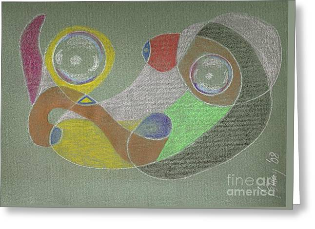 Roley Poley Horizontal Greeting Card by Rod Ismay