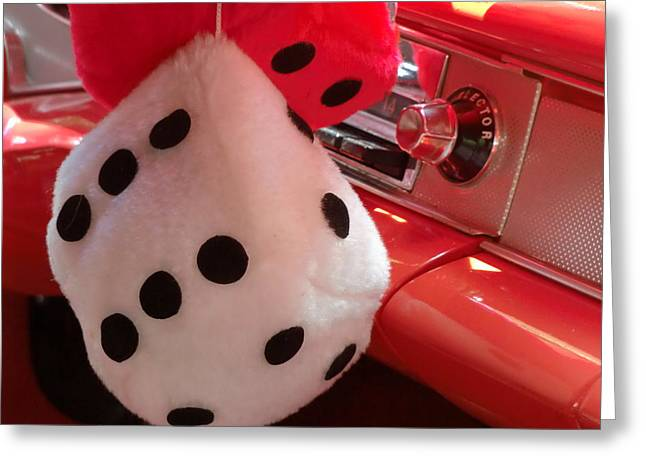 Roll Of The Dice Greeting Card by Richard Mansfield