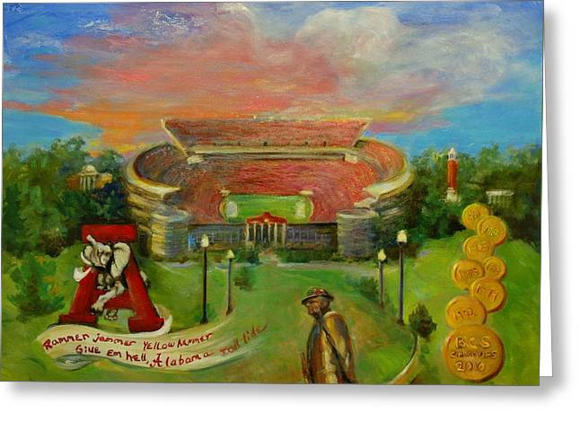 Roll Tide Greeting Card by Ann Bailey
