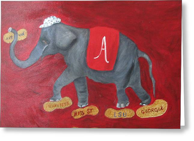 Roll Tide Greeting Card by Brenda Luczynski