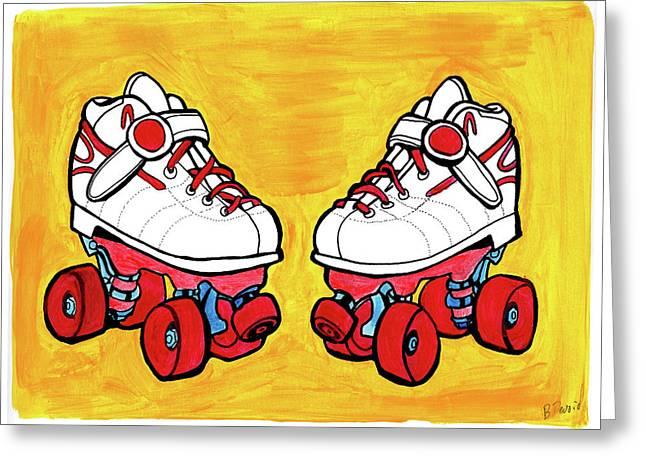 Roller Skates Greeting Card by Brandy Devoid