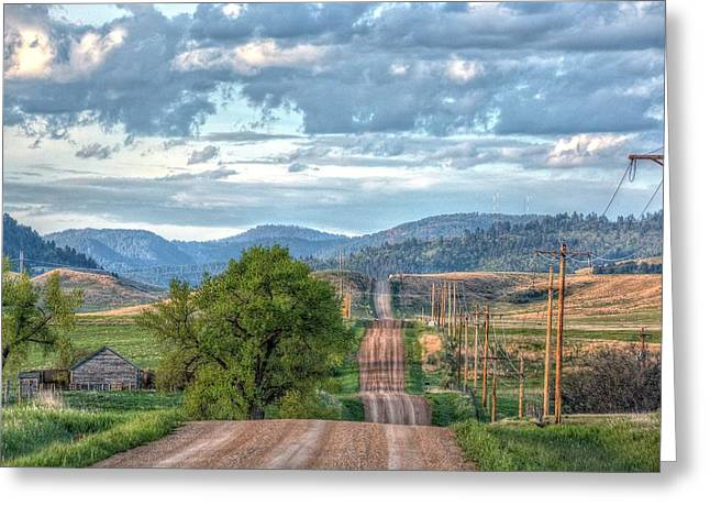 Rollercoaster Country Road Greeting Card