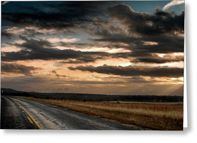 Rollin On Down The Highway Greeting Card by Karen Musick