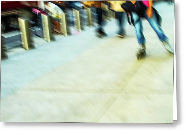 Rolling Blading In Nyc Greeting Card