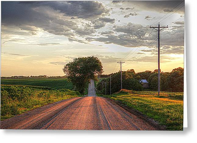 Rolling Down A Country Road Greeting Card by Karen McKenzie McAdoo