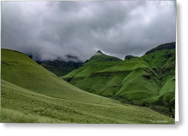 Rolling Green Drakensberg Mountains Greeting Card