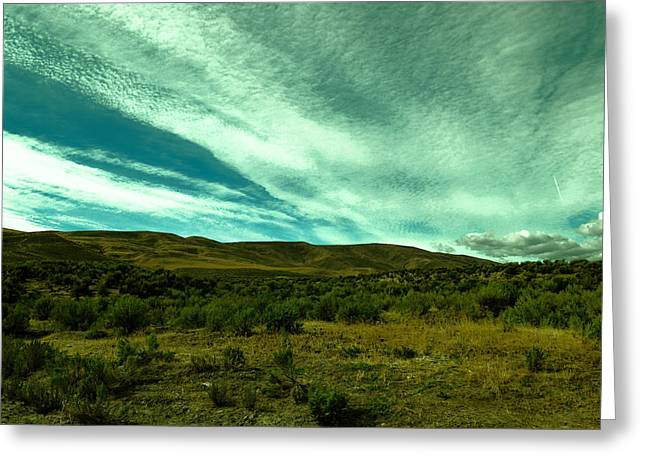 Rolling Hills Greeting Card by Jeff Swan