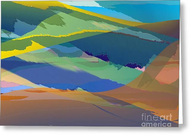 Rolling Hills Landscape Greeting Card