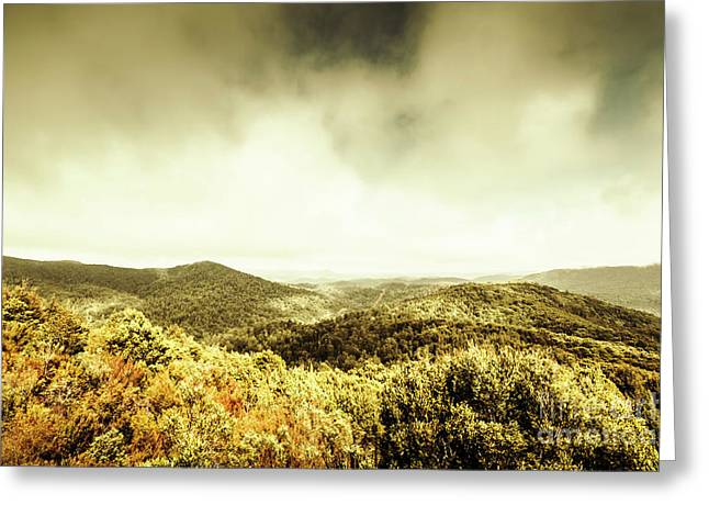 Rolling Hills Of The Tarkine, Tasmania Greeting Card