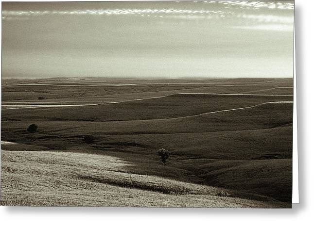 Greeting Card featuring the photograph Rolling Hills Toned by Thomas Bomstad