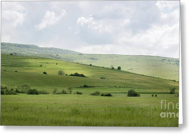 Rolling Landscape, Romania Greeting Card