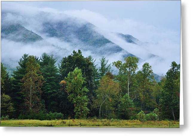 Rolling Mist Greeting Card by Jeff Moose