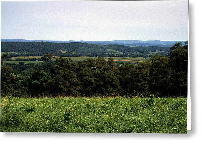Rolling Mountains Dot The Pennsylvania Greeting Card by Stacy Gold