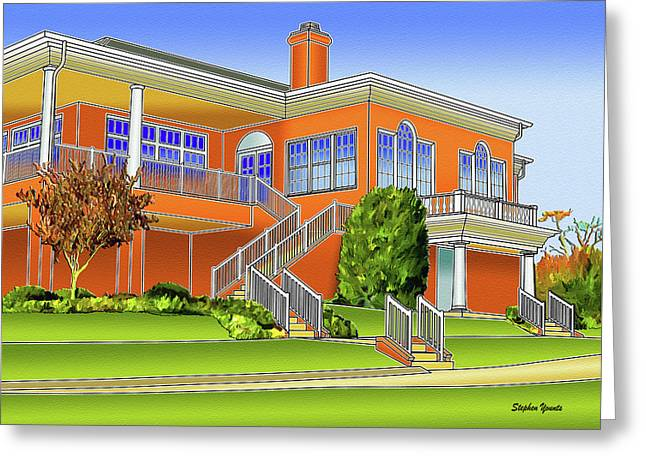 Rolling Road Golf Club Greeting Card by Stephen Younts