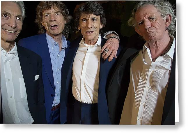 Rolling Stones Casual Greeting Card