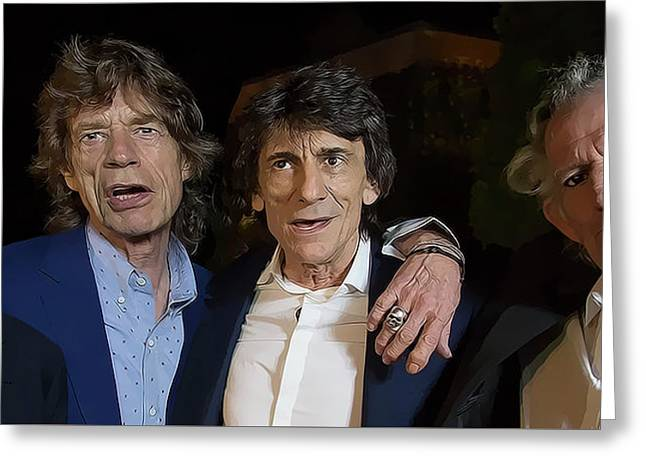 Rolling Stones Together Greeting Card