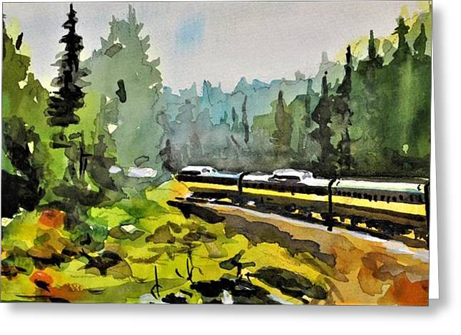Rolling Thru The North Country Greeting Card by Spencer Meagher