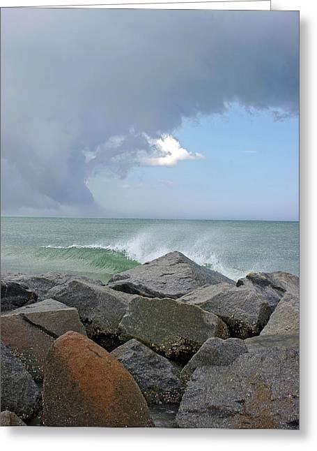 Opposing Forces Greeting Cards - Rolling Thunder Greeting Card by Thomas Lovelace
