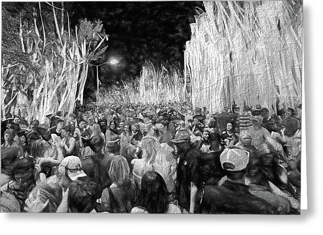 Rolling Toomer's Black And White Greeting Card by JC Findley
