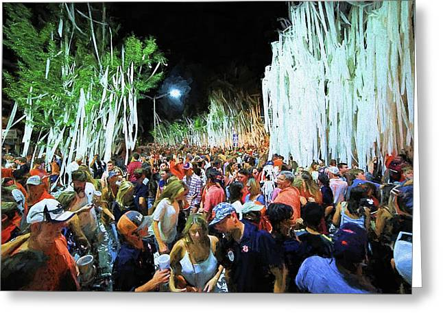 Rolling Toomer's Corner Greeting Card by JC Findley