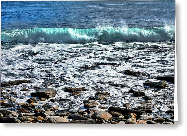 Rolling Wave On The Coast Of Maine Greeting Card by Olivier Le Queinec