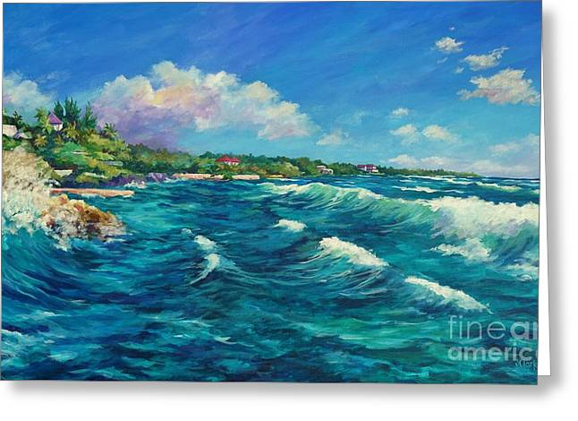 Rolling Waves At Prospect Reef Greeting Card by John Clark