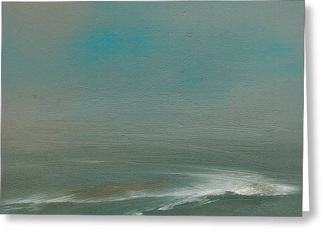 Rolling Waves Greeting Card by Judy Jacobs