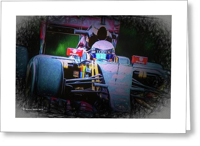 Romain Grosjean 2015 Greeting Card by Marvin Spates