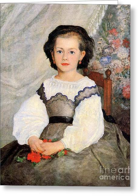 Romaine Lascaux Greeting Card by Renoir