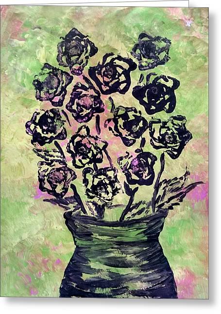 Romaine Lettuce Greeting Card by Tabitha Lemus