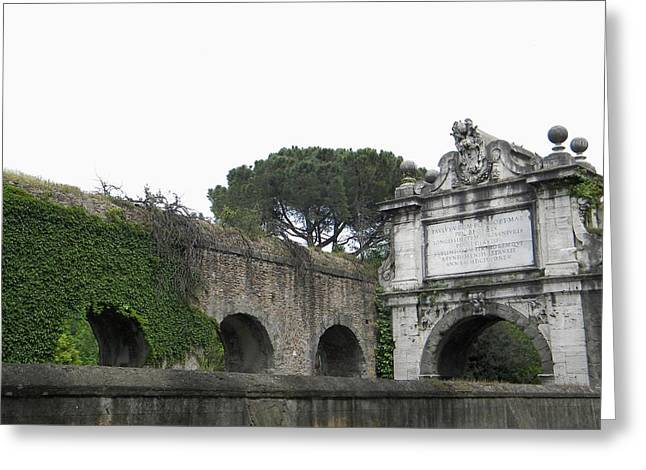 Greeting Card featuring the photograph Roman Aqueduct by Manuela Constantin