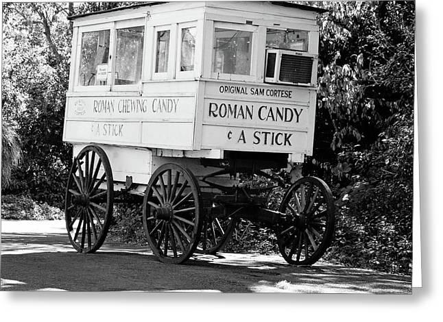 Roman Candy - Bw Greeting Card