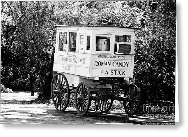 Roman Candy No 2 - Bw Greeting Card