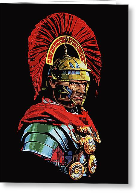 Roman Centurion Portrait Greeting Card