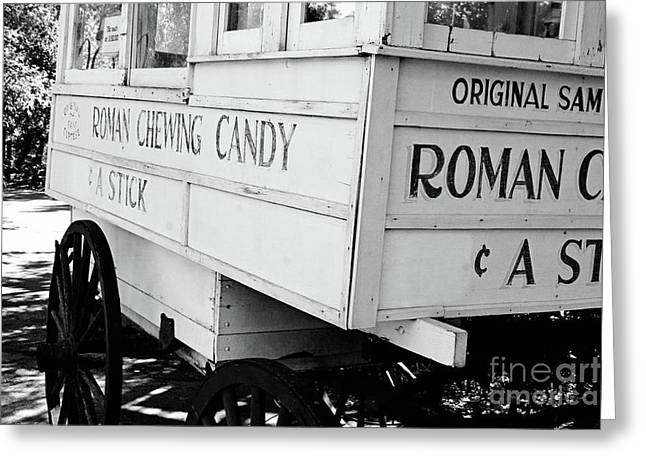 Roman Chewing Candy - Bw Greeting Card