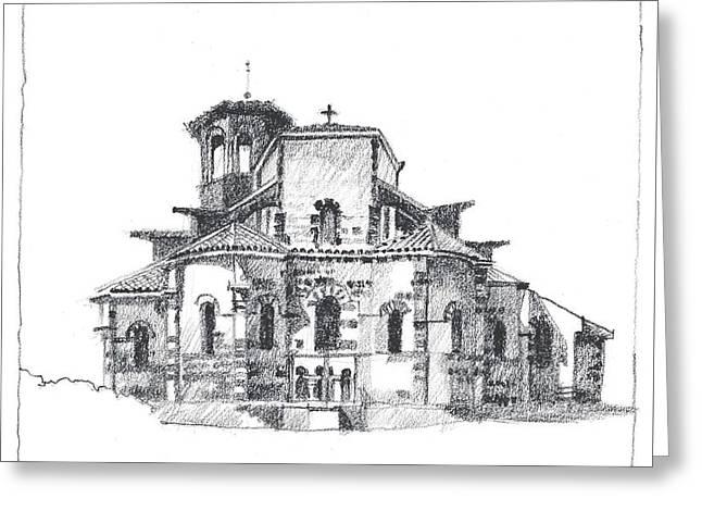 Roman Church At Chamalieres Greeting Card
