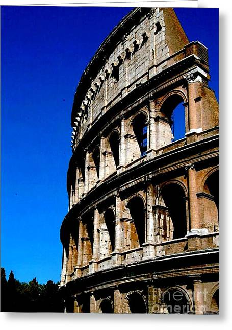 Roman Coliseum By Day Greeting Card by Alberta Brown Buller