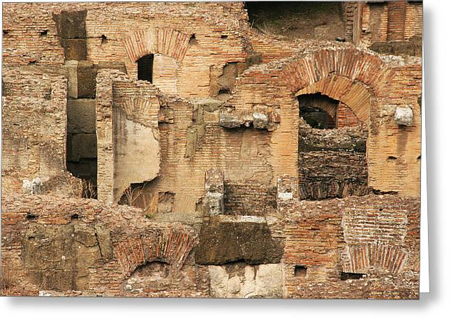 Greeting Card featuring the photograph Roman Colosseum by Silvia Bruno