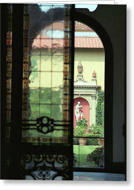 Roman Courtyard View Greeting Card by Carol Kinkead