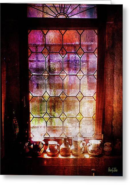 Roman Dinner Window Greeting Card by Brian Lukas