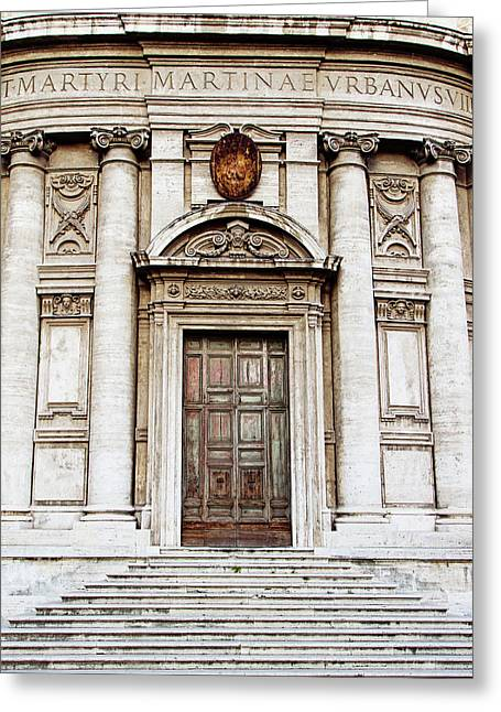 Roman Doors - Door Photography - Rome, Italy Greeting Card