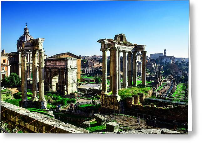 Roman Forum Greeting Card by Alessandro Della Pietra