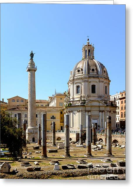 Roman Forum Greeting Card by Edward Fielding