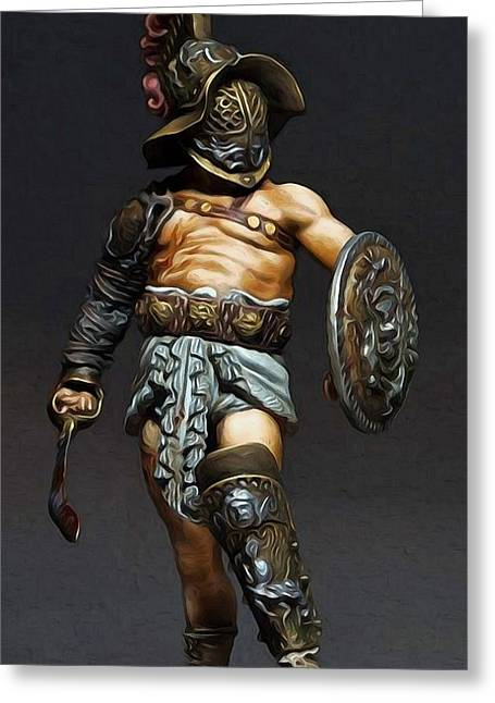 Roman Gladiator - 02 Greeting Card