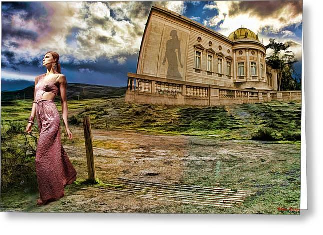 Roman Goddess Greeting Card by Blake Richards