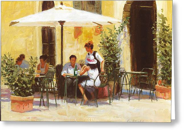 Roman Lunch Greeting Card by Paul Milner