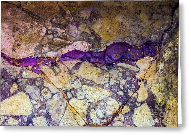 Roman Rocks Greeting Card by Joseph Yarbrough