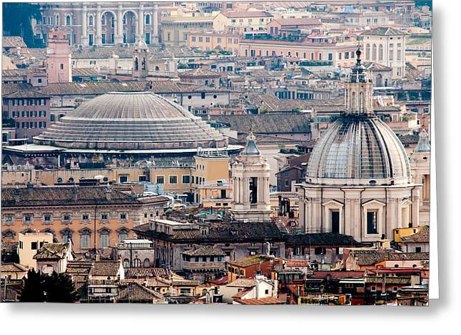 Roman Rooftops Greeting Card by Andy Smy