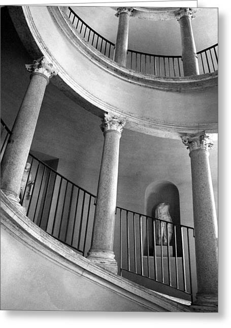 Roman Staircase Greeting Card by Donna Corless