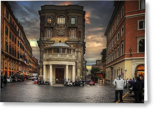 Roman Streets Greeting Card